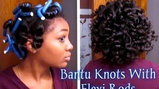 getlinkyoutube.com-Get The Bantu Knots Hairstyle Using Flexi Rods!!