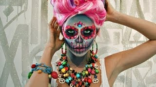 getlinkyoutube.com-Sugar Skull Makeup Tutorial