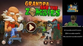 getlinkyoutube.com-Let's play Mobile Games! Grandpa and the ZOMBIES!!!