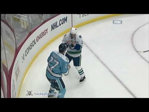 Kevin Bieksa vs Craig Adams Nov 17, 2010
