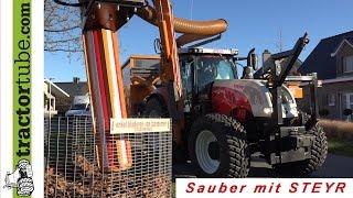 getlinkyoutube.com-Steyr CVT 6185 macht sauber - der Staubsauger für unterwegs :)