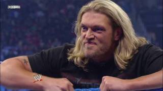 Edge confronts Chris Jericho