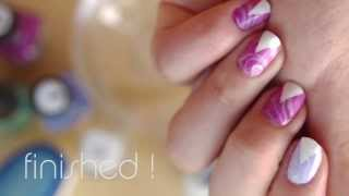 getlinkyoutube.com-Easy Triangle Water Marble Nail Art Tutorial (Mess Free!)