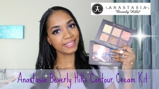 getlinkyoutube.com-DEMO | Highlight & Contour w/ Anastasia Beverly Hills Contour Cream Kits