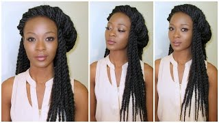 getlinkyoutube.com-Crochet Senegalese Twists Maintenance & Styling