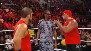 getlinkyoutube.com-WWE RAW Snoop Dogg & Hulk Hogan Returns 2015