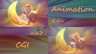 getlinkyoutube.com-Lolirock ~ Transformation sequences ~ 2D/3D comparison