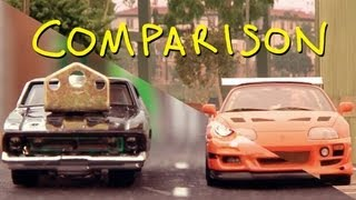 getlinkyoutube.com-The Fast and the Furious - Final Race - Homemade with Toys (Comparison)