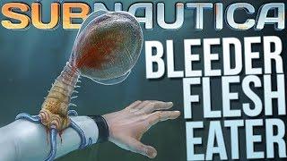 getlinkyoutube.com-Subnautica - Bleeder Blood Suckers & Bone Shark! - Let's Play Subnautica Part 3