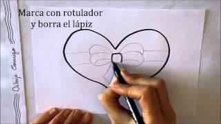 getlinkyoutube.com-Cómo dibujar un Corazón con Lazo Dibuja Conmigo Dibujos de Amor