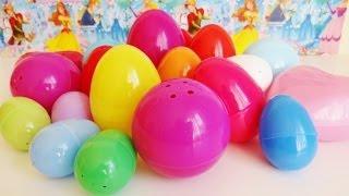 getlinkyoutube.com-20 Surprise Eggs My Little Pony, Hot Wheels, Party Animals, Disney Princess, The Lion King