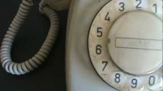 getlinkyoutube.com-60's PTT Type T 65 Rotary Telephone.