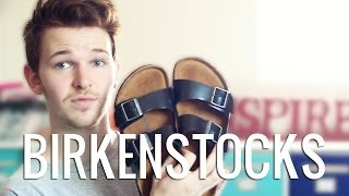 getlinkyoutube.com-Shoe Unboxing - Birkenstock Sandals Black Arizona | Imdrewscott