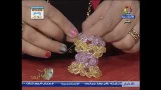 getlinkyoutube.com-طريقة عمل فانوس 5  ميداليه من الخرز __ هنا قنديل How to make lantern 5 medallion with  beads