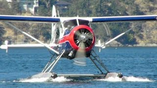 getlinkyoutube.com-de Havilland DHC-2 Beaver landing from Saltspring Island to Maple Bay