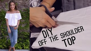 getlinkyoutube.com-DIY Off The Shoulder Bardot Top (STYLEWIRE)