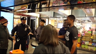 Challenging NYPD Cops in the Subway Station
