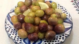 getlinkyoutube.com-تخليل و تصبير الزيتون المدقوق / المشقوق بالبيت من المطبخ المغربي مع ربيعة  Olive En Conserve