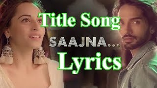 Saajna Song (Nazar) Lyrics | Star Plus
