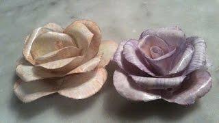 طريقة بسيطة لصنع وردة من الورق