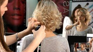 getlinkyoutube.com-Прическа своими руками.  Прическа на короткие волосы с помощью утюжка