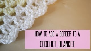 getlinkyoutube.com-CROCHET: How to add a crochet border (scalloped/shell edging) | Bella Coco