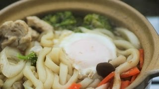 getlinkyoutube.com-鍋割山で鍋焼きうどんを食べるだけ Eat udon noodles  in the pot in Mt.Nabewari