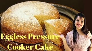 getlinkyoutube.com-Super Moist Eggless Cooker Cake | Vanilla sponge Cake without Oven | Cake without Condensed Milk