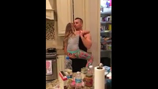 getlinkyoutube.com-Dad Dances with Daughter in Kitchen