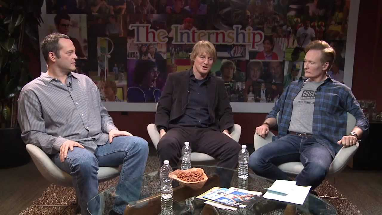 Vince Vaughn and Owen Wilson with Conan O Brien