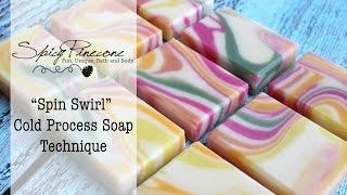 getlinkyoutube.com-Spin Swirl - Cold Process Soap Technique