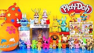 getlinkyoutube.com-Play Doh Eggs Surprise My Little Pony Care Bears Unicorno Kidrobot TokiDoki MLP Disney Cars Toy Club