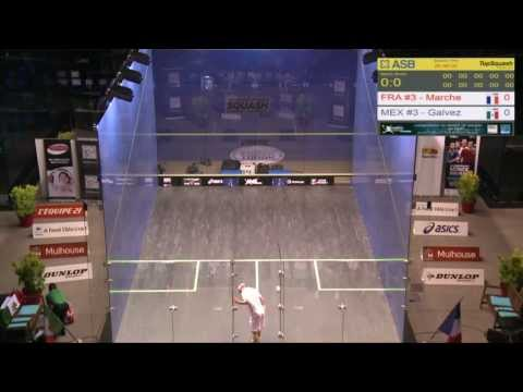 France v Mexico, Day 4, 2013 Men's World Team Squash Championships