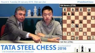 getlinkyoutube.com-9- Wei Yi beats David Navara, his 1st win, game Analysis - Tata Steel Chess 2016