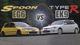 getlinkyoutube.com-[ENG CC] Spoon Civic EG6 B18C vs. Civic Type R EK9 B16B in Ebisu 1998