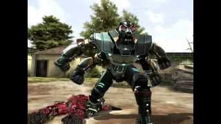 getlinkyoutube.com-REAL STEEL Asura & Violette & Cardinal Chaos VS Blacktop & Bluebot & Six Shooter New Robots Update