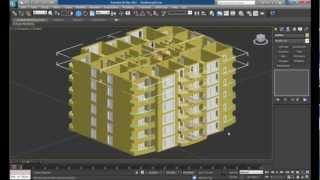 getlinkyoutube.com-3D 5 Katlı Bina Tasarımı-6