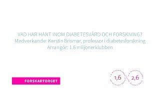 Forskartorget 2018 - Vad har hänt inom diabetesvård och forskning?