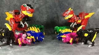 getlinkyoutube.com-Dino Charge Zords vs Kyoryuger Zyudenryu