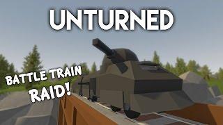 Unturned   Battletrain Raid! (Roleplay Survival)