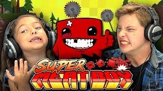 getlinkyoutube.com-KIDS PLAY SUPER MEAT BOY (Kids React: Gaming)