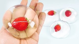 getlinkyoutube.com-HOW TO MAKE EDIBLE STRAWBERRY RAINDROP CAKE - DIY WATER CAKE (水信玄餅) BUBBLE CAKE FOR KIDS [EASY]