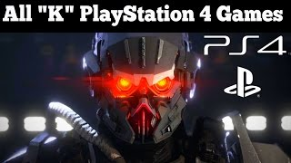 Showing All K PlayStation 4 Games   PS4 Games List