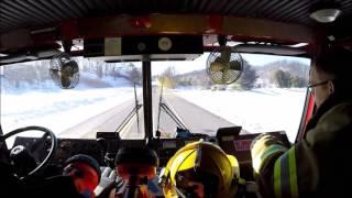 Botetourt County - Engine 701 Responding 1/8/17, (Ride Along)