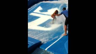 Royal Caribbean Flow Rider Girl with one leg