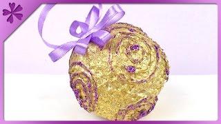getlinkyoutube.com-DIY Glue Christmas ball (ENG Subtitles) - Speed up #151