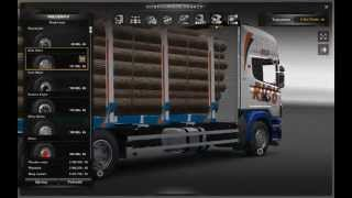 getlinkyoutube.com-Euro Truck SImulator 2 Scania 164 Tandem + Tuning + Trailer