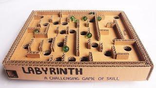 getlinkyoutube.com-How to Make a Cardboard Box Marble Labyrinth Game - Tutorial - Just5mins