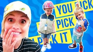 BACK TO SCHOOL SHOPPiNG! Kids Pick Their Own Clothes?! width=