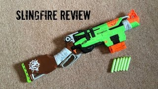 Nerf Zombie Strike Slingfire Unboxing, Review & Range Test